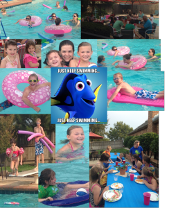 AAMOM back to school and end of summer swim party